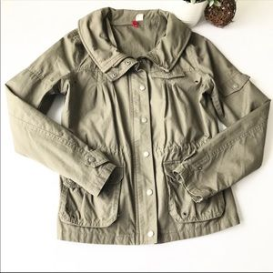 Divided H&M green utility jacket sz8